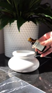 Demostración de uso de un difusor de aroma